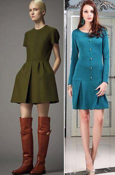 строгое платье синее