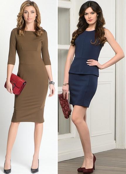 модель строгого платья