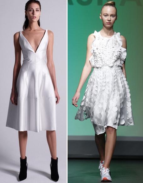 модное платье белого цвета