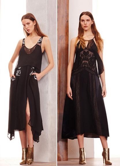модные черные платья фото