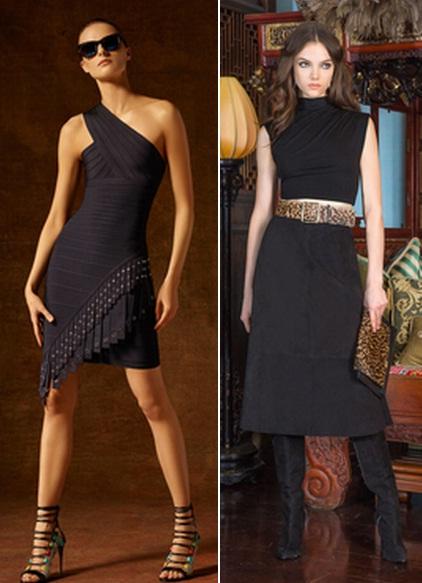 модные платья черного цвета фото