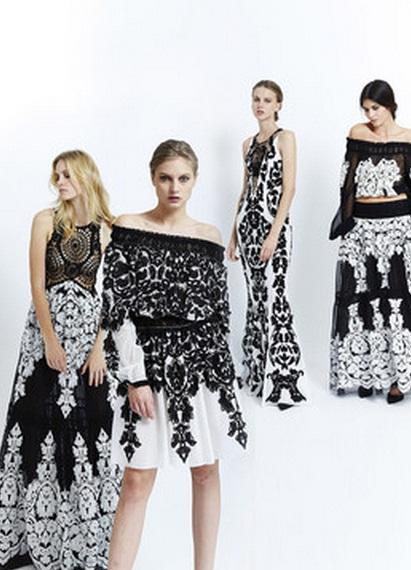 модные платья с кружевами