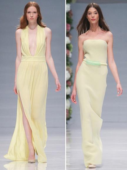 платья в пол пастельных тонов