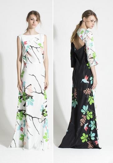Модели летних длинных платьев
