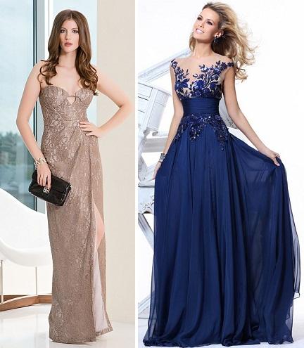 Длинные платья необычные