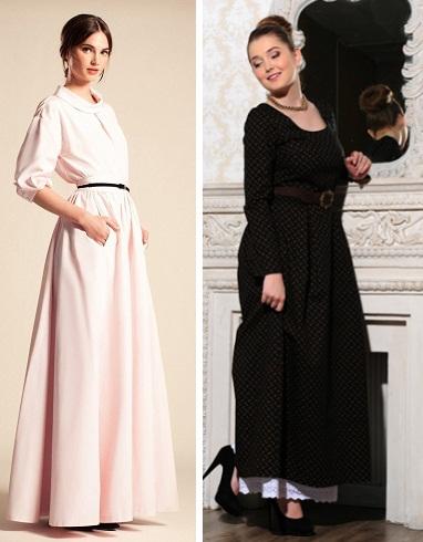 Классическое длинное платье фото