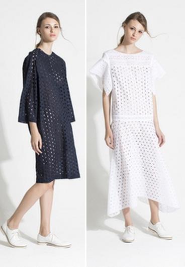 модное платье с перфорацией