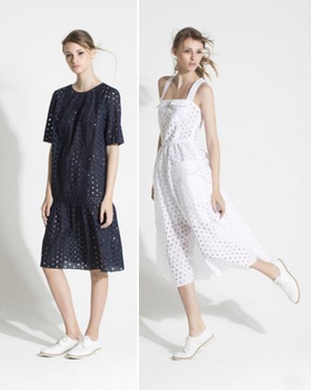 перфорированные платья 2015