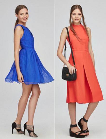 яркие короткие платья