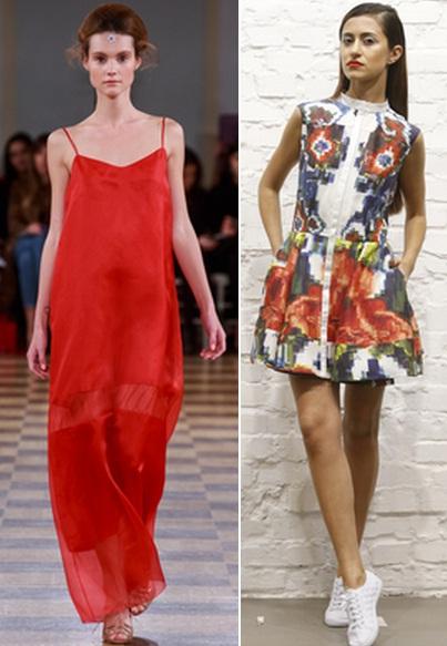 с чем носить яркое платье