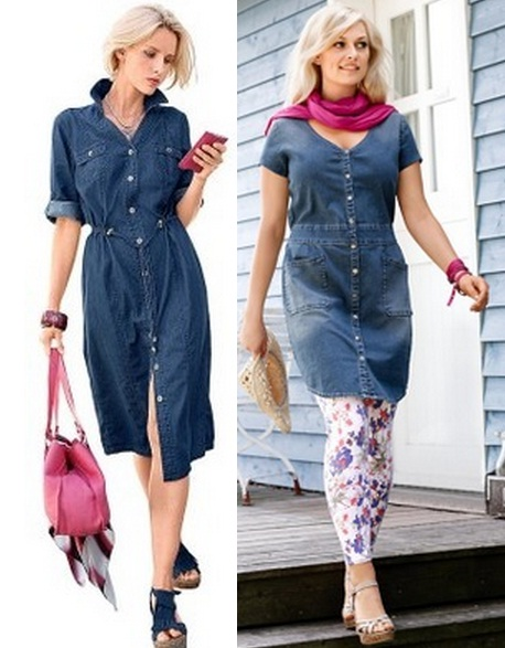 Джинсовые платья и сарафаны на лето