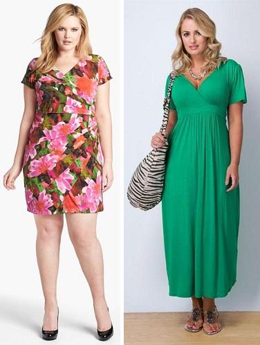Двойные платья для полных
