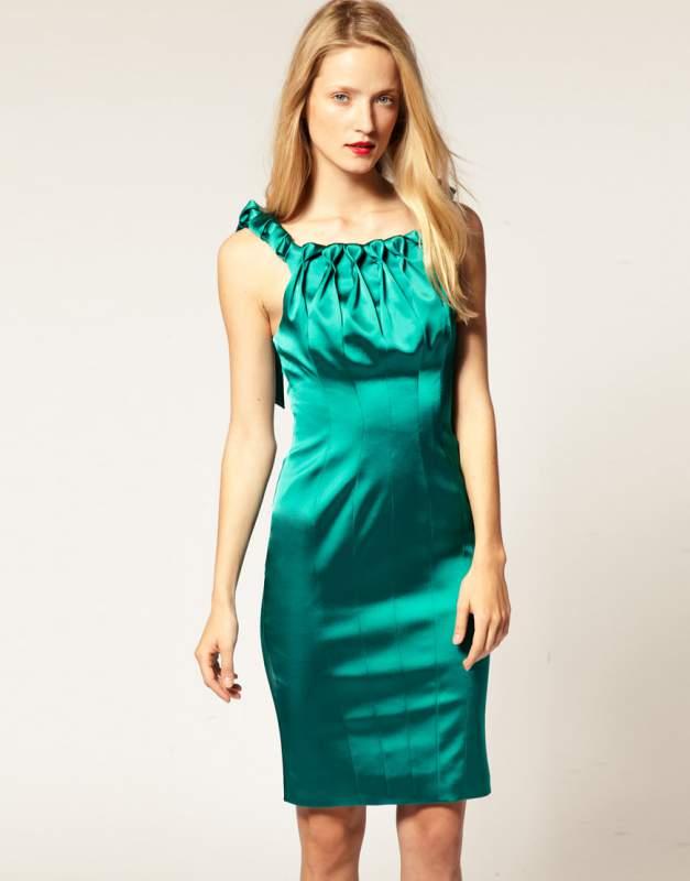 бирюзовое платье с чем носить