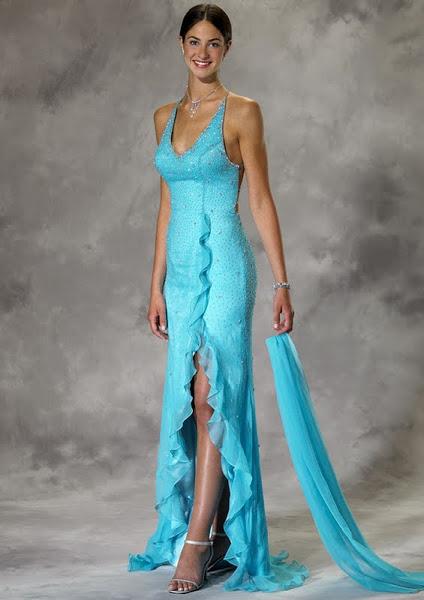 бирюзовое платье в пол с чем носить