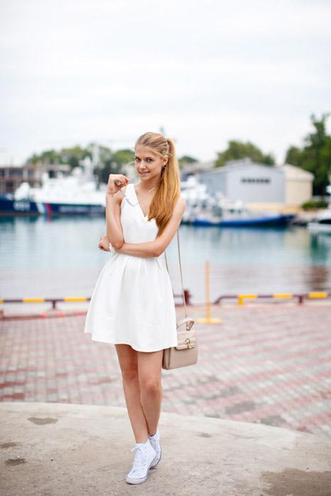 платье с кедами картинки