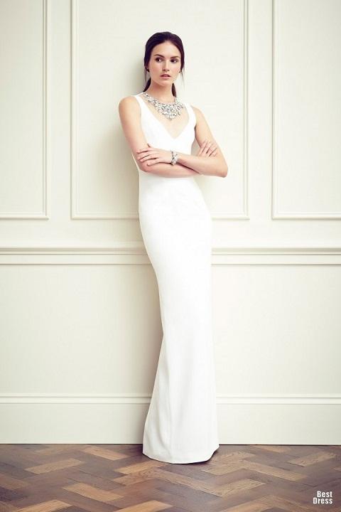 белое вечрнее платье 2015