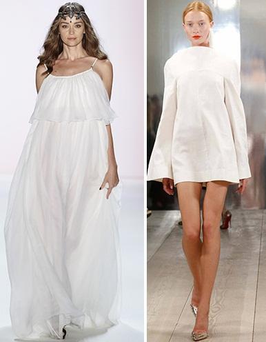 короткие и длинные белые платья 2016