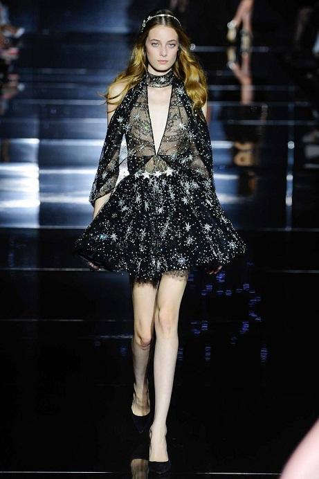 модное черное платье 2016