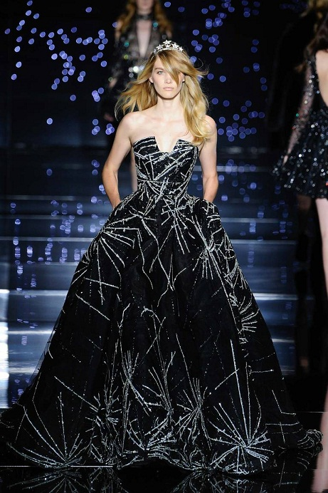черные длинные вечерние платья 2016