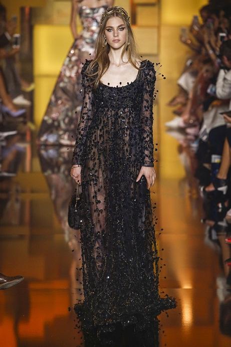 черные длинные платья 2016 фото