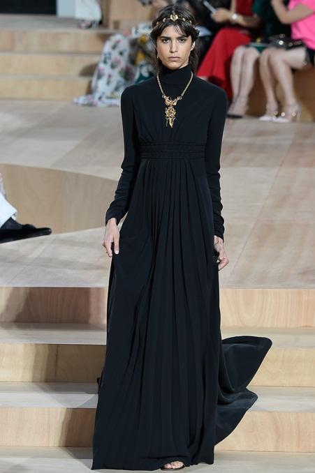 черные длинные закрытые платья 2016