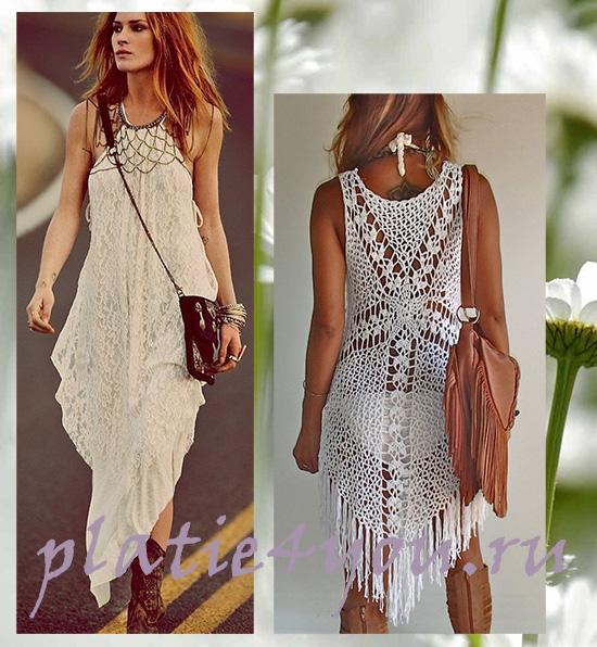 Стильные платья в стиле бохо