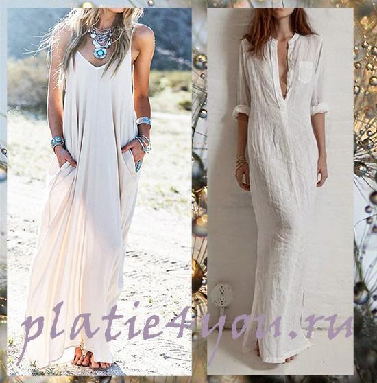 Платья длинные из батиста