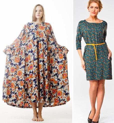 Фасоны для платьев из легкой ткани