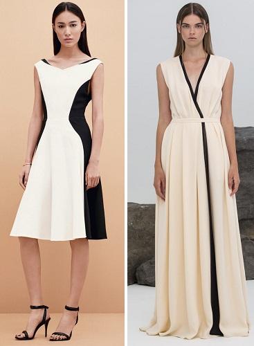 Платье черное белое полиняло