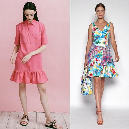 Модные простые летние платья