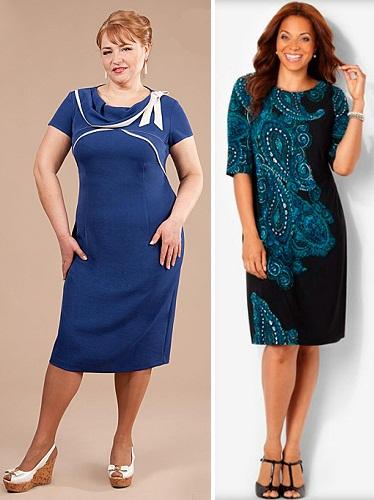 Трикотажные платья для женщин 50 лет