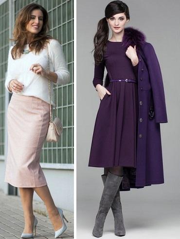 Светлые юбки зимой