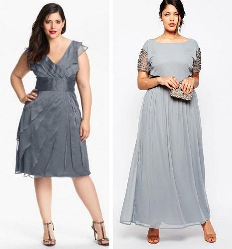 Платья для торжества для полных девушек
