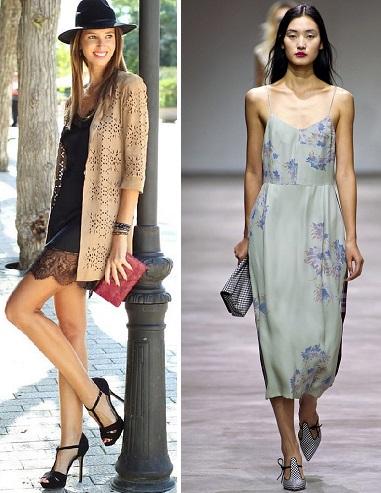 Комбинации платьев с туфлями