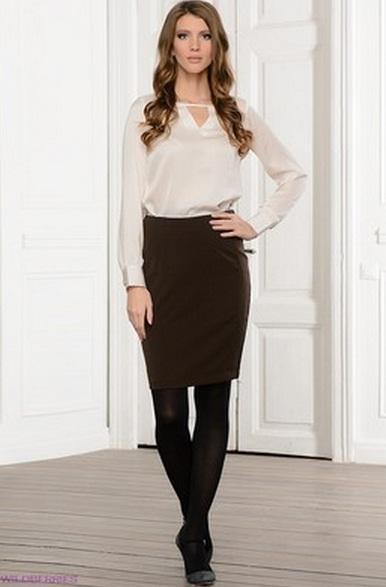 Блузка под прямую юбку