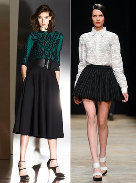 Красивые сочетания юбок и блузок