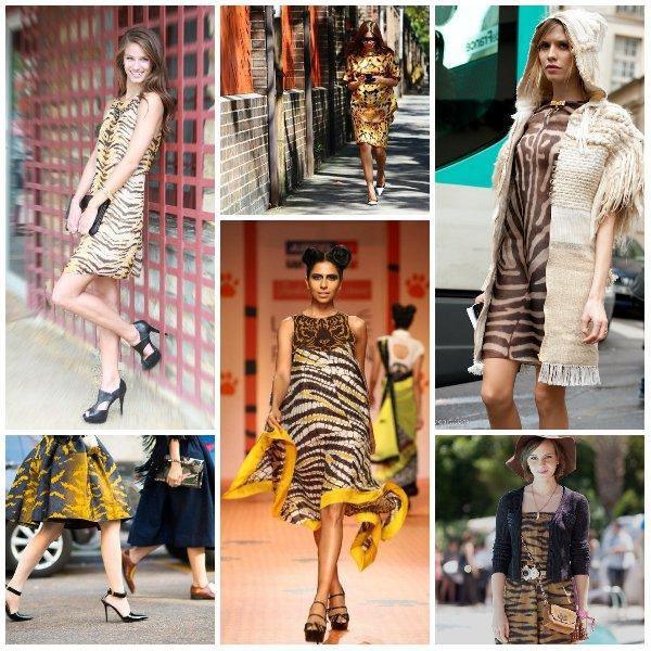 С чем носить тигровую
