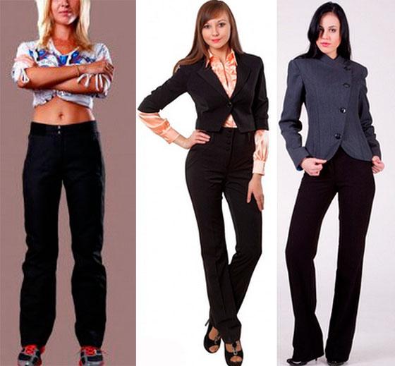 Зимние брюки женские на флисе