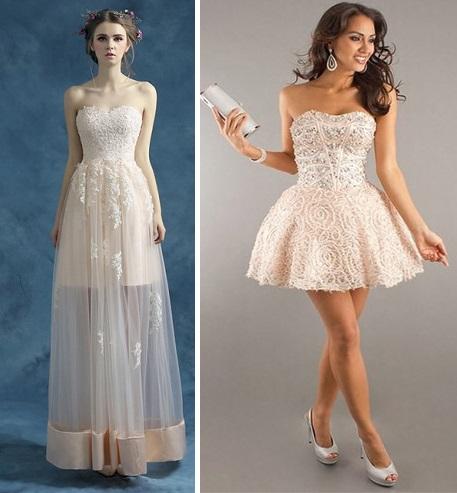 Полностью открытые платья