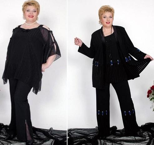 Вечерние костюмы для полных женщин