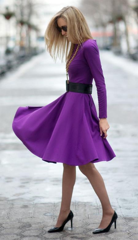 Resultado de imagen para фиолетовый цвет в одежде