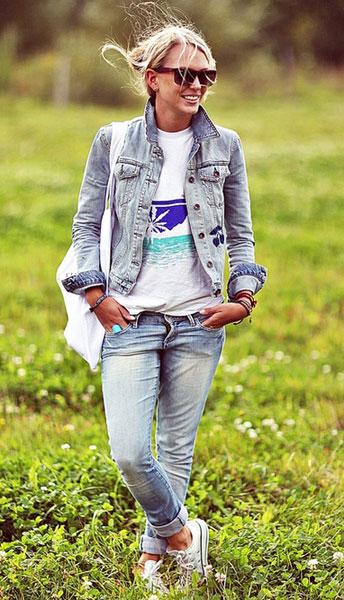 Джинсовая куртка + джинсы