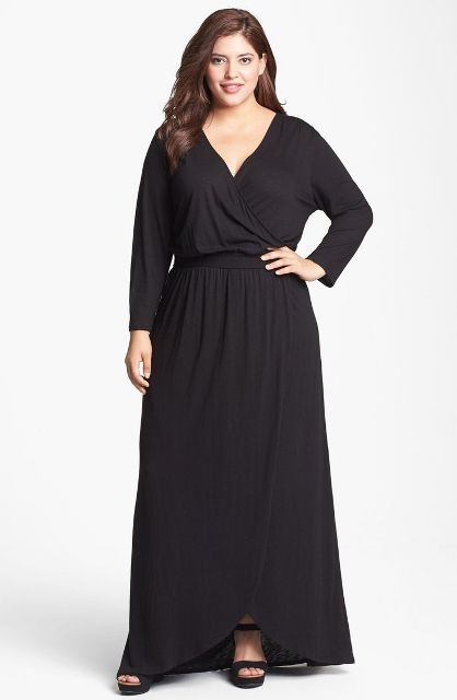 правила выбора длинного платья полной женщине