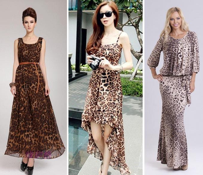 ae32edc9ee0214b С чем носить длинное леопардовое платье?