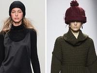 модные вязаные шапки осень зима