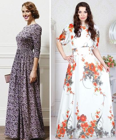 6db91d21c088a5f Самые красивые длинные платья 2018 – это платья с принтом. Особенно это  касается модных летних моделей, где активно используются крупные рисунки  цветов и ...
