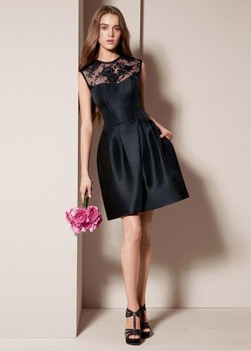 16460841ae0 Короткое черное платье с пышной юбкой  самые стильные фасоны