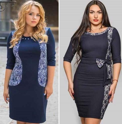 b7903dc4352 Стильные платья для полных 2016