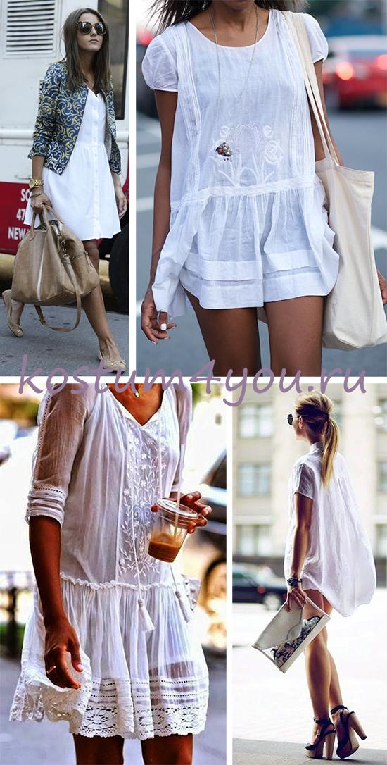 b4eb7cc9f3a Еще один из универсальных вариантов для летнего базового гардероба –  маленькое белое платье. Выглядит потрясающе