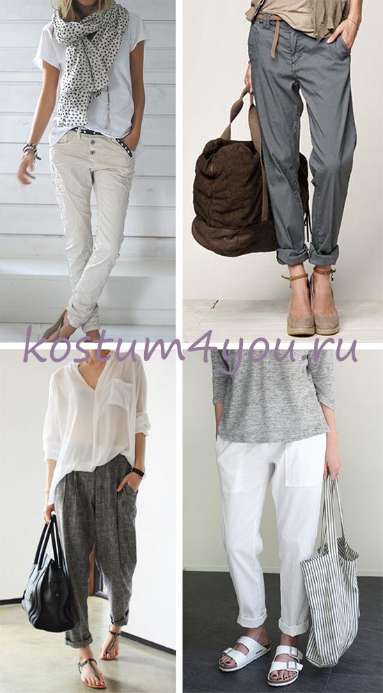 6a109206657 ... базовых позиций женского гардероба. В летнем варианте будут наиболее  предпочтительны свободные брюки из натуральных тканей  коттона